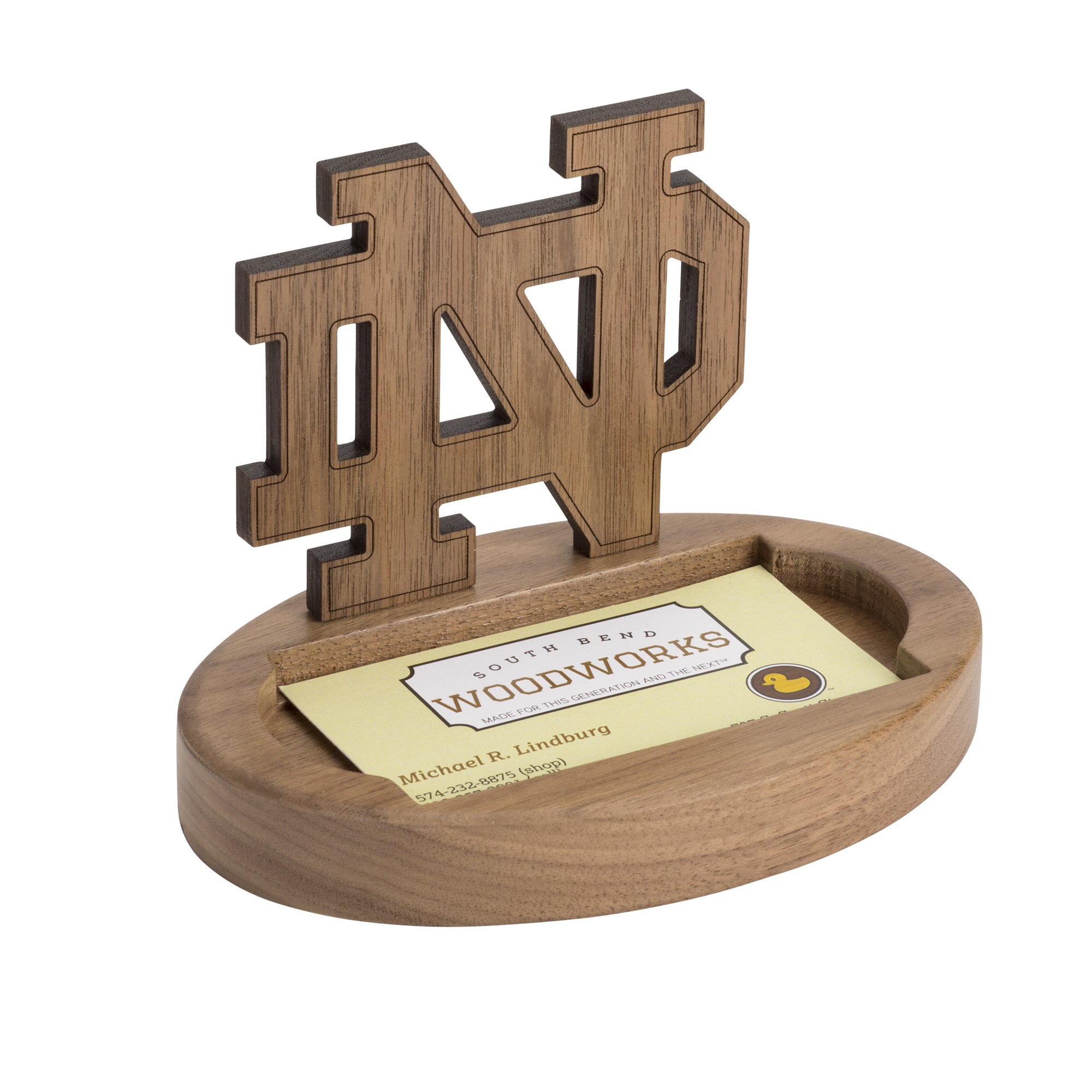 Notre Dame Monogram Wooden Card Holder