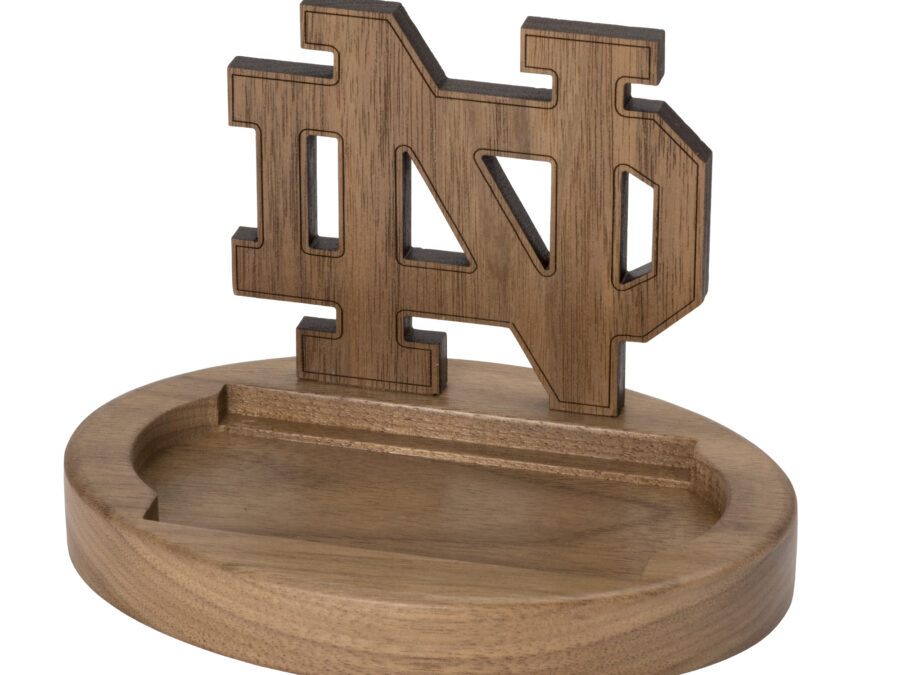 Notre Dame Monogram Wooden Card Holder