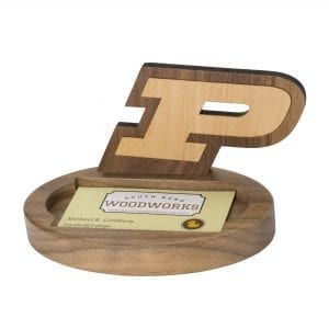 Purdue University Wooden Business Card Holder