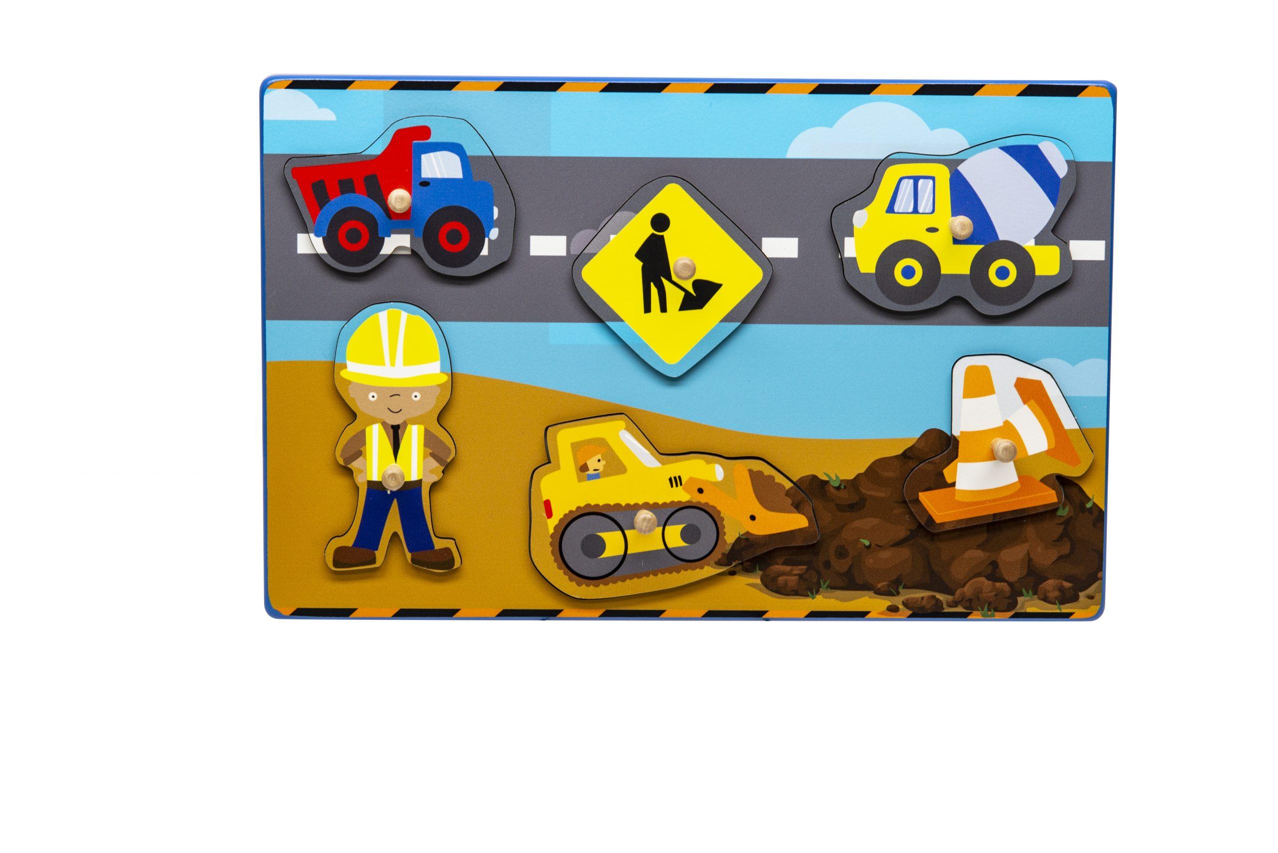Construction Site Imagination Peg Puzzle