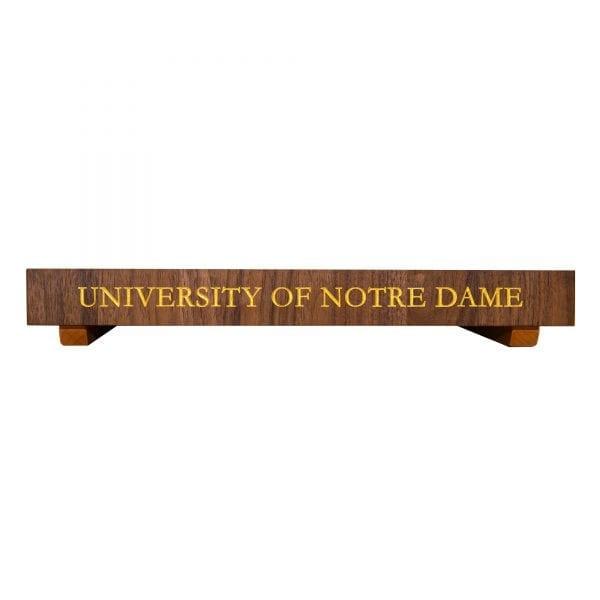 University of Notre Dame End Grain Walnut Butcher Block