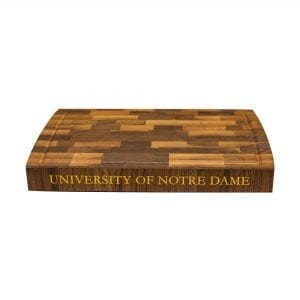 University of Notre Dame End Grain Walnut Butcher Block