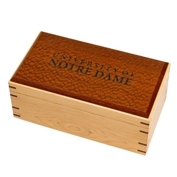 University of Notre Dame Hardwood Maple with Lacewood Box