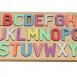 Alphabet Puzzle with a Pastel Letter Mix