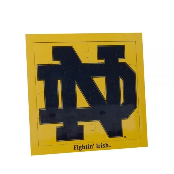 Notre Dame Gold Backgroud Block ND Jigsaw Puzzle
