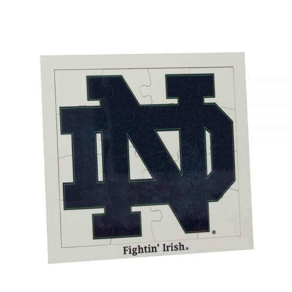 Notre Dame White Backgroud Block ND Jigsaw Puzzle