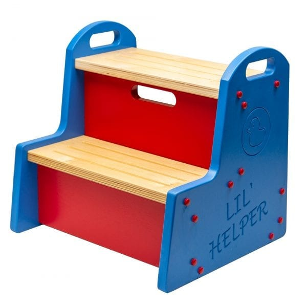 Blue and Red Step Stool