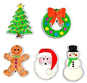 Color your own 5 piece ornament set