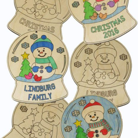 Color your own Snow Globe Ornament