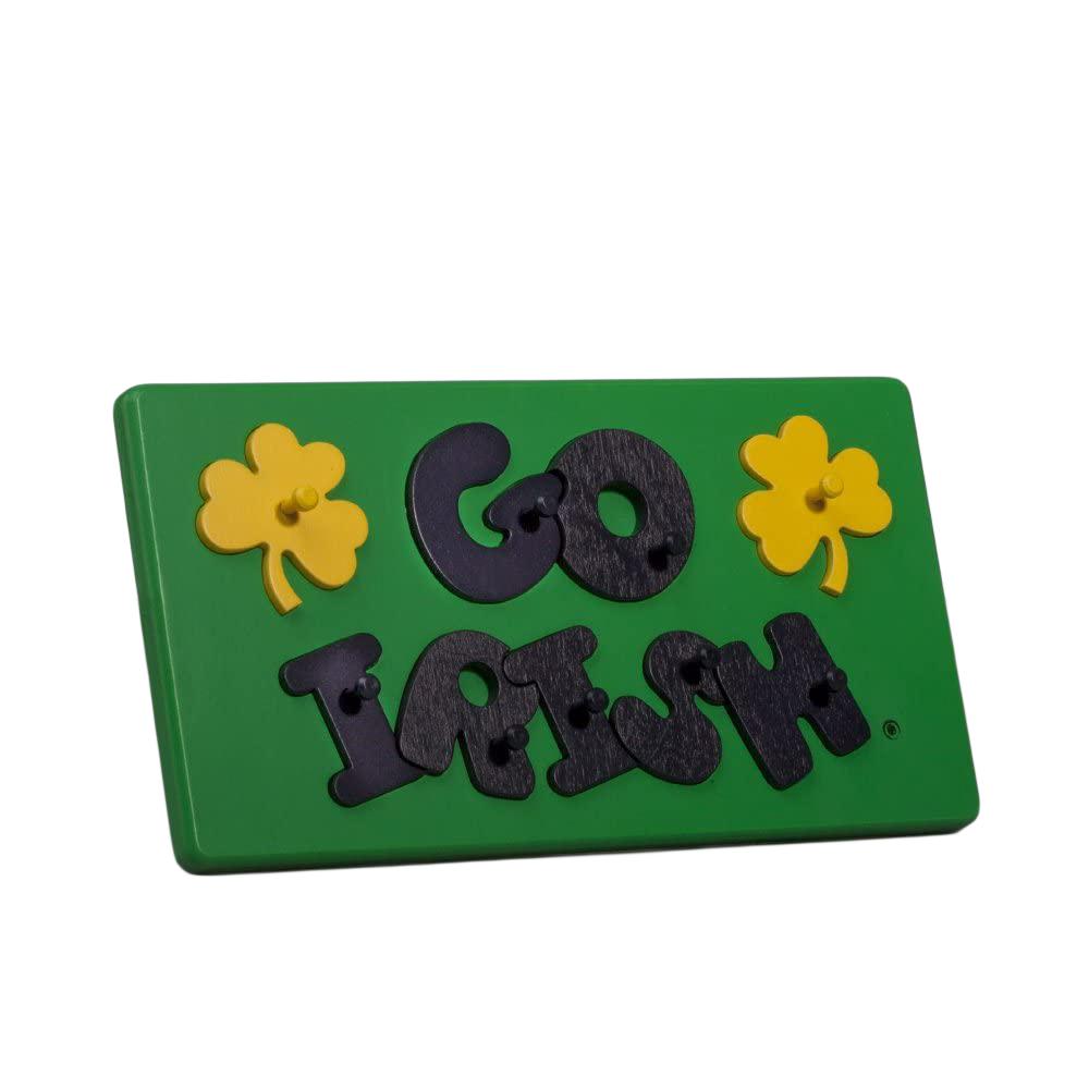 """Notre Dame """"Go Irish"""" Collegiate Peg Puzzle"""