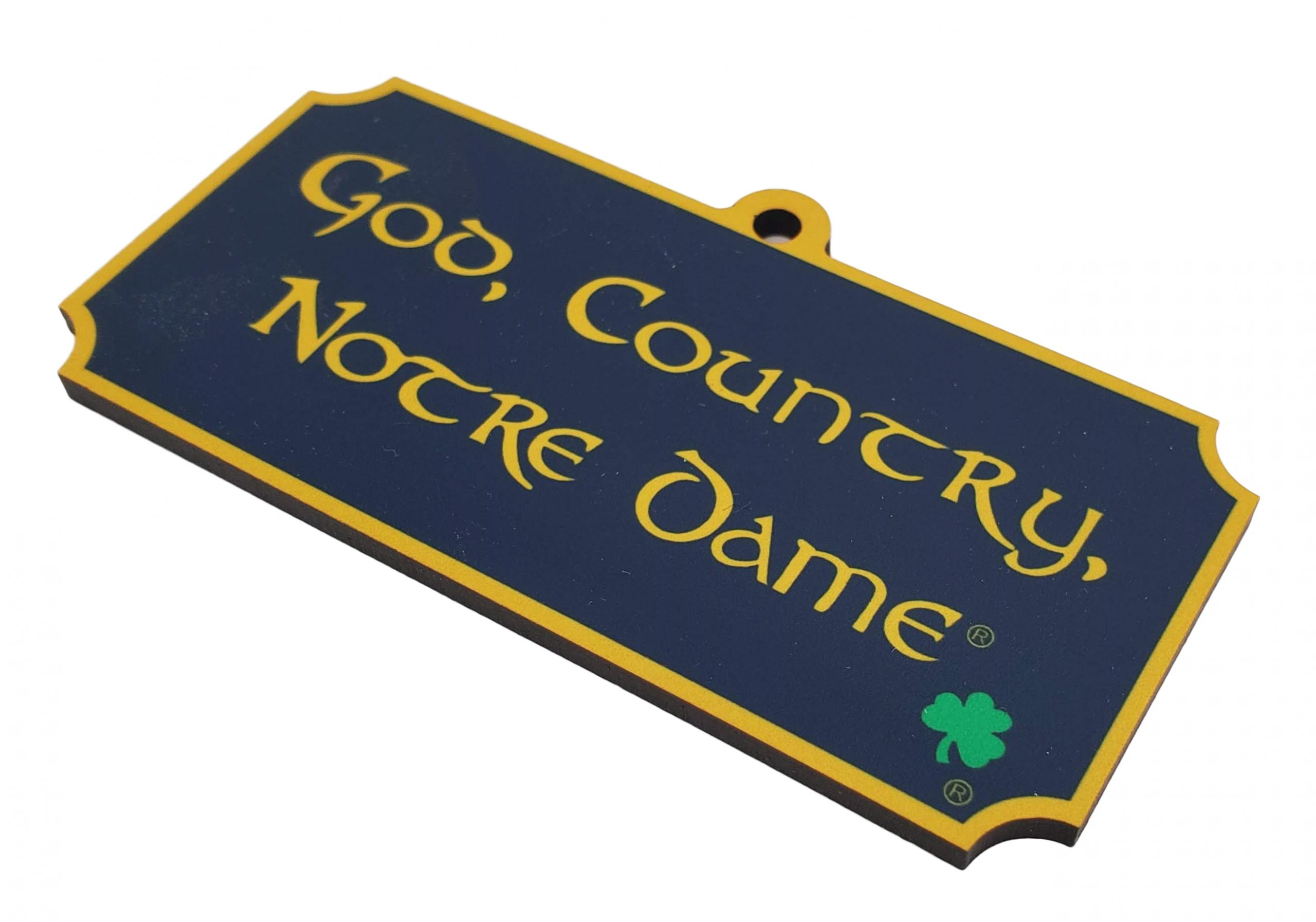 God, Country, Notre Dame Sublimated Ornament