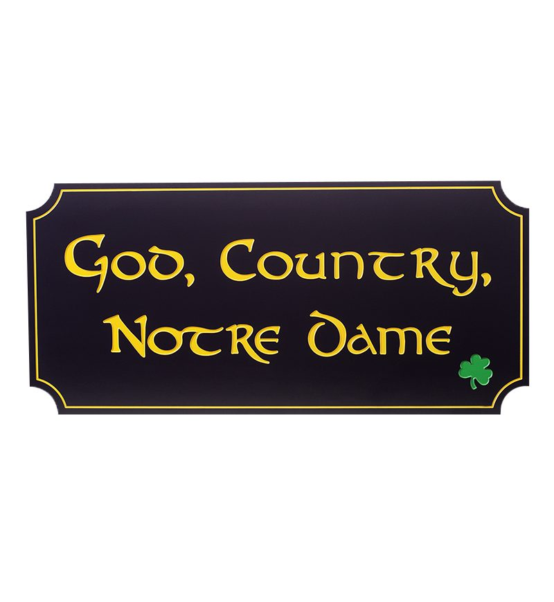 God, Country, Notre Dame Wall Hanging