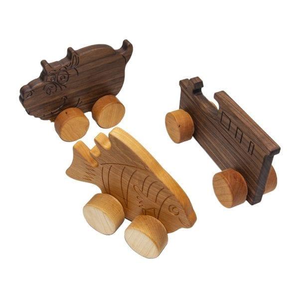 Hardwood Push Toys