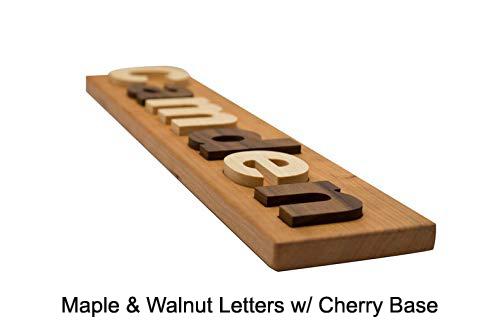 Cherry Board w/ Maple & Walnut Letters
