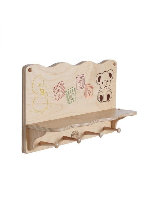 Kids Wooden Wall Shelf