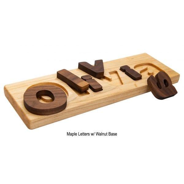 Maple Board w/ Walnut Letters