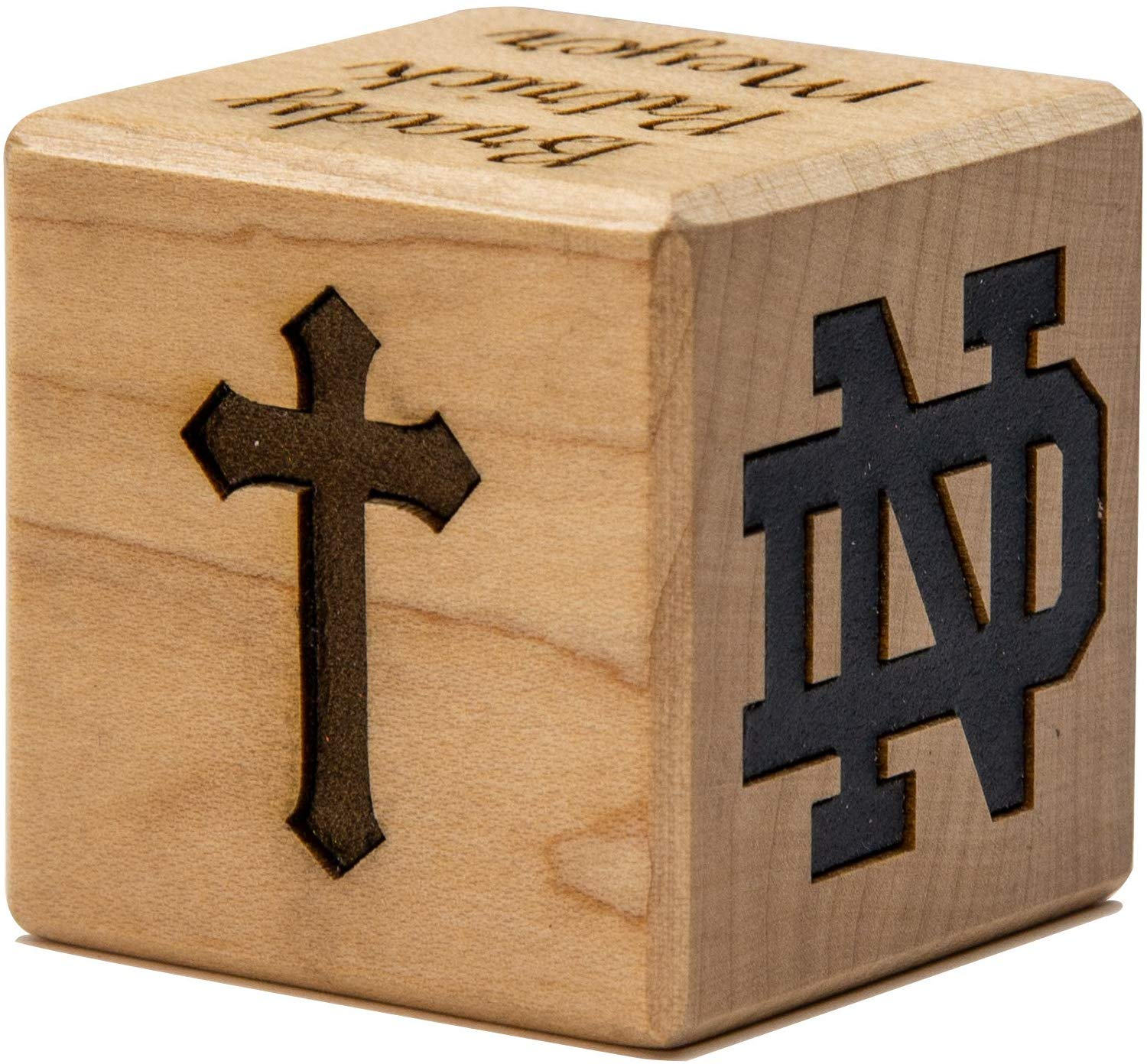 Notre Dame Wooden Birth Story Block
