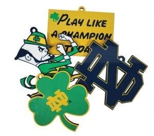Notre Dame 4 piece Ornament Collection