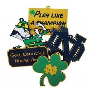 Notre Dame 5 piece Ornament Collection