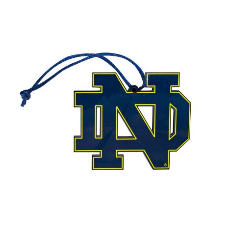 Notre Dame Block ND Ornament