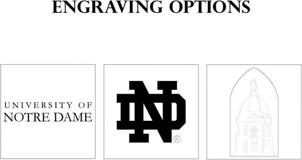 Notre Dame Engraving Options