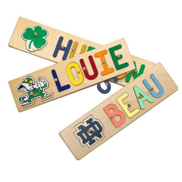 Notre Dame Kids Personalized Wooden Peg Puzzle