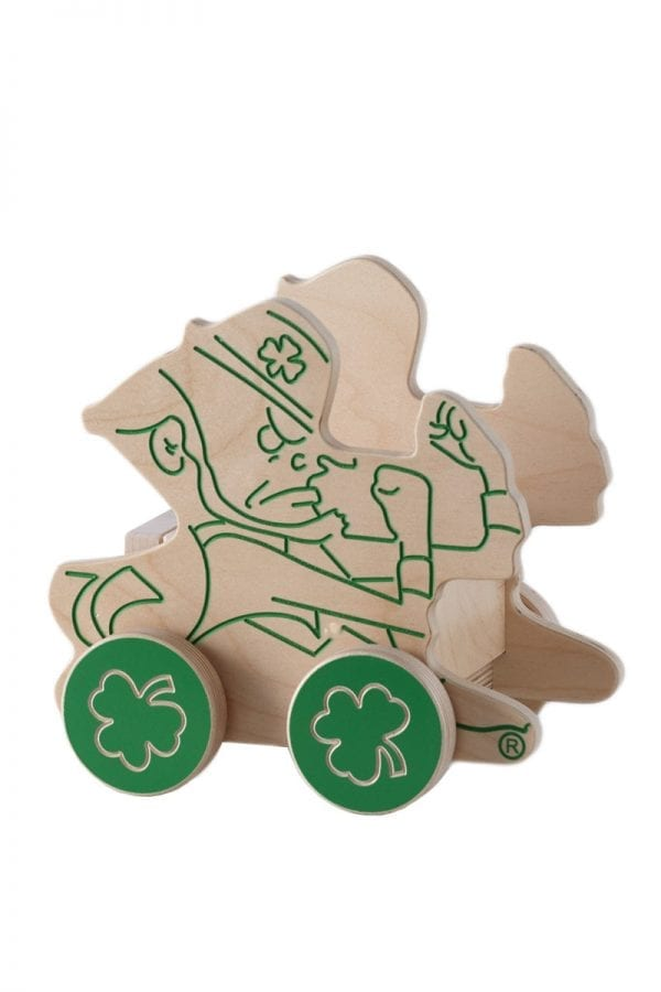 Notre Dame Leprechaun Mini Block Wagon