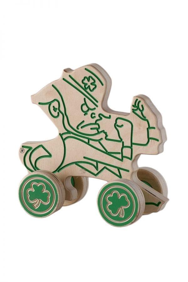 Notre Dame Leprechaun Push Toy