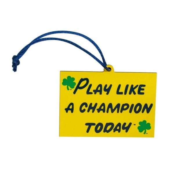Notre Dame Play Like A Champion Today Ornament