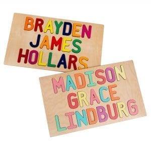 personalized three name puzzle
