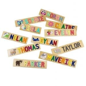 Whimsical Character Personalized Name Puzzles
