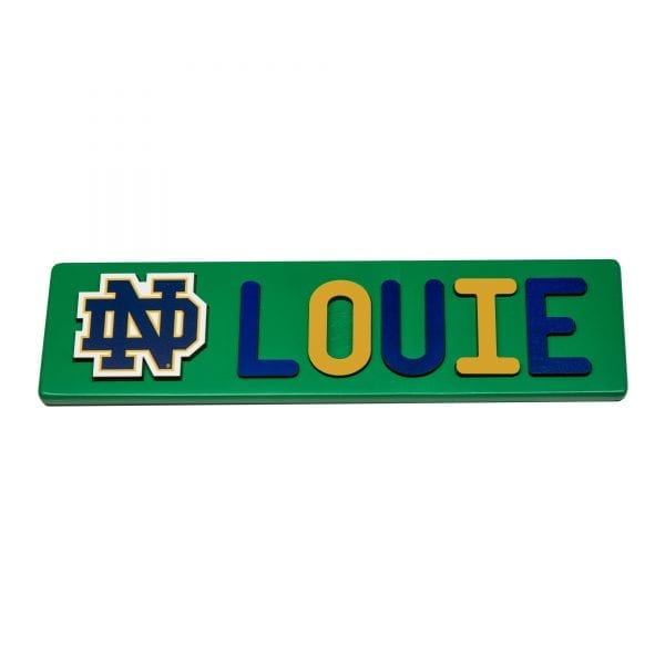 Notre Dame Painted Base Personalized Name Puzzle