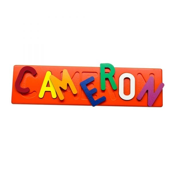 Painted Base Personalized Name Puzzle