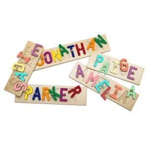 Personalized Wooden Name Peg Puzzles